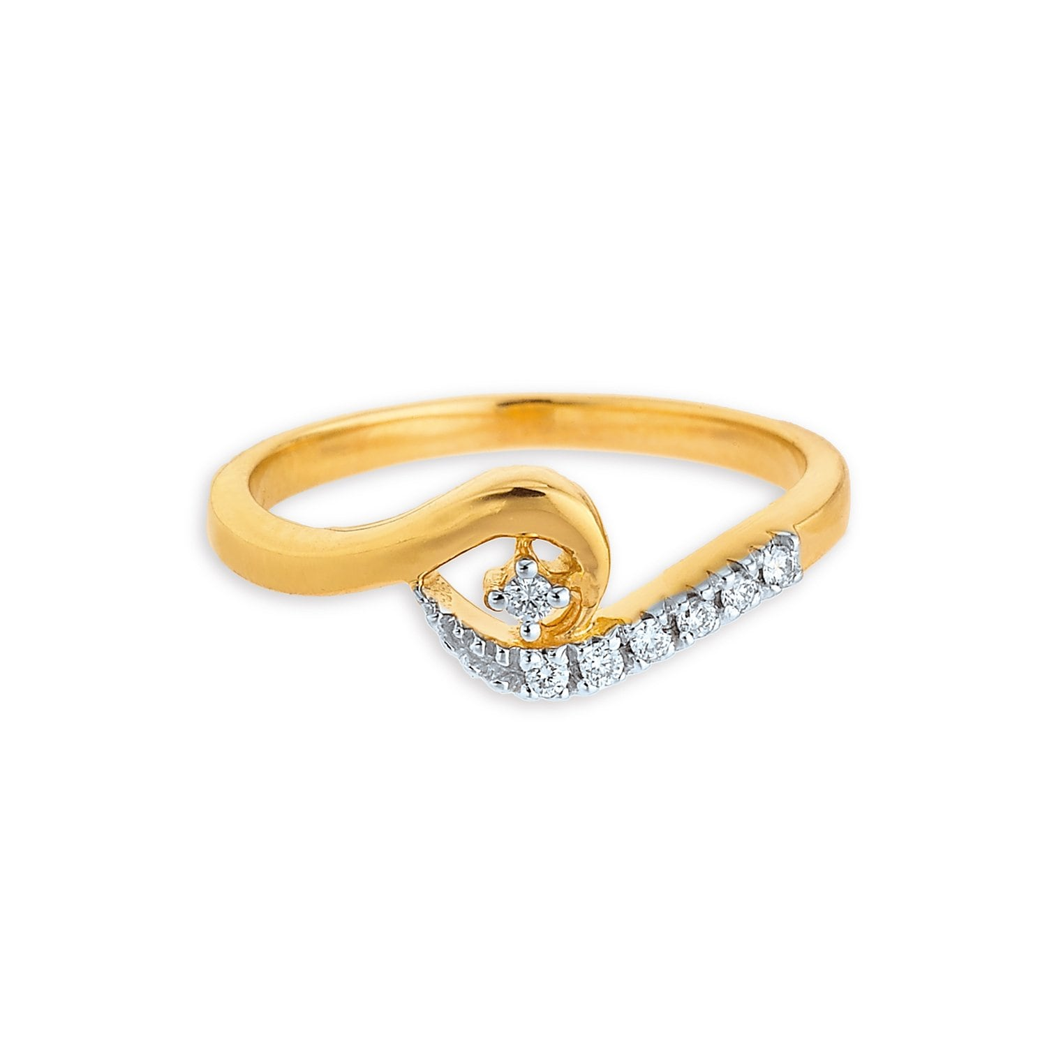 buy beautiful diamond and gold tanishq finger ring for