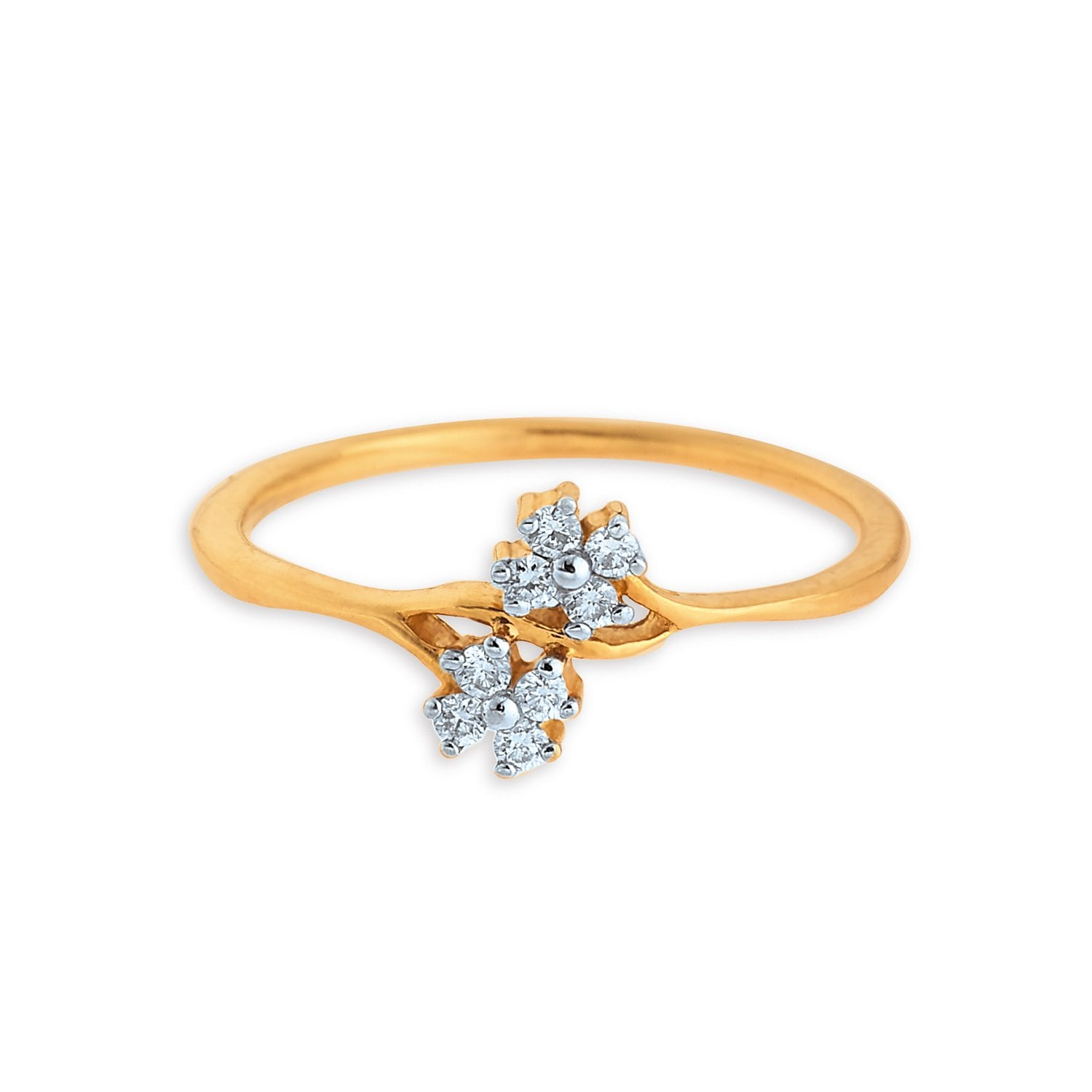 rings floral tanishq gold design titan women best buy with at online india yellow product finger ring price for jewellery