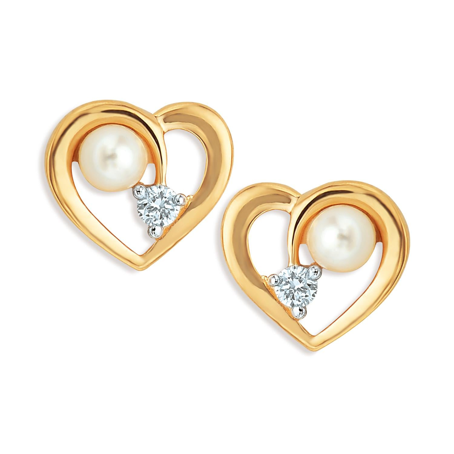 Buy Tanishq 18KT Yellow Gold Studded Stud Earring At Best Price
