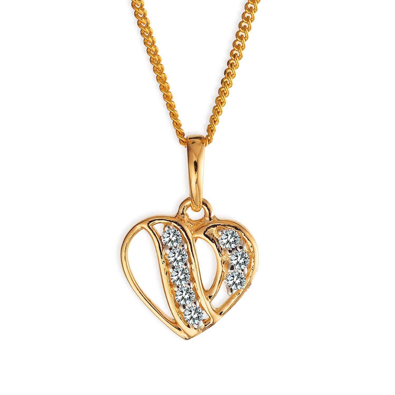 Tanishq 18 KT Diamond Studded Gold Pendant for Women ID
