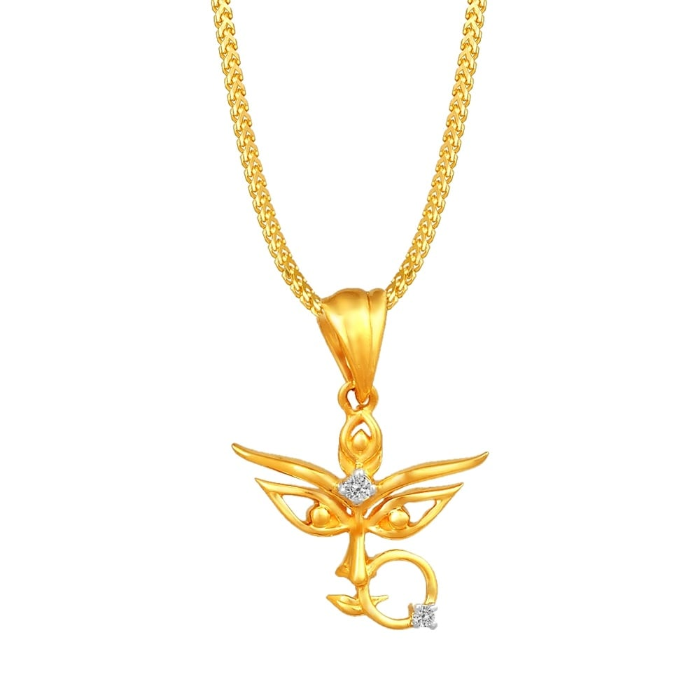 Buy tanishq 18kt yellow gold studded pendant for women at best price buy tanishq 18kt yellow gold studded pendant for women at best price online india titan mozeypictures Image collections
