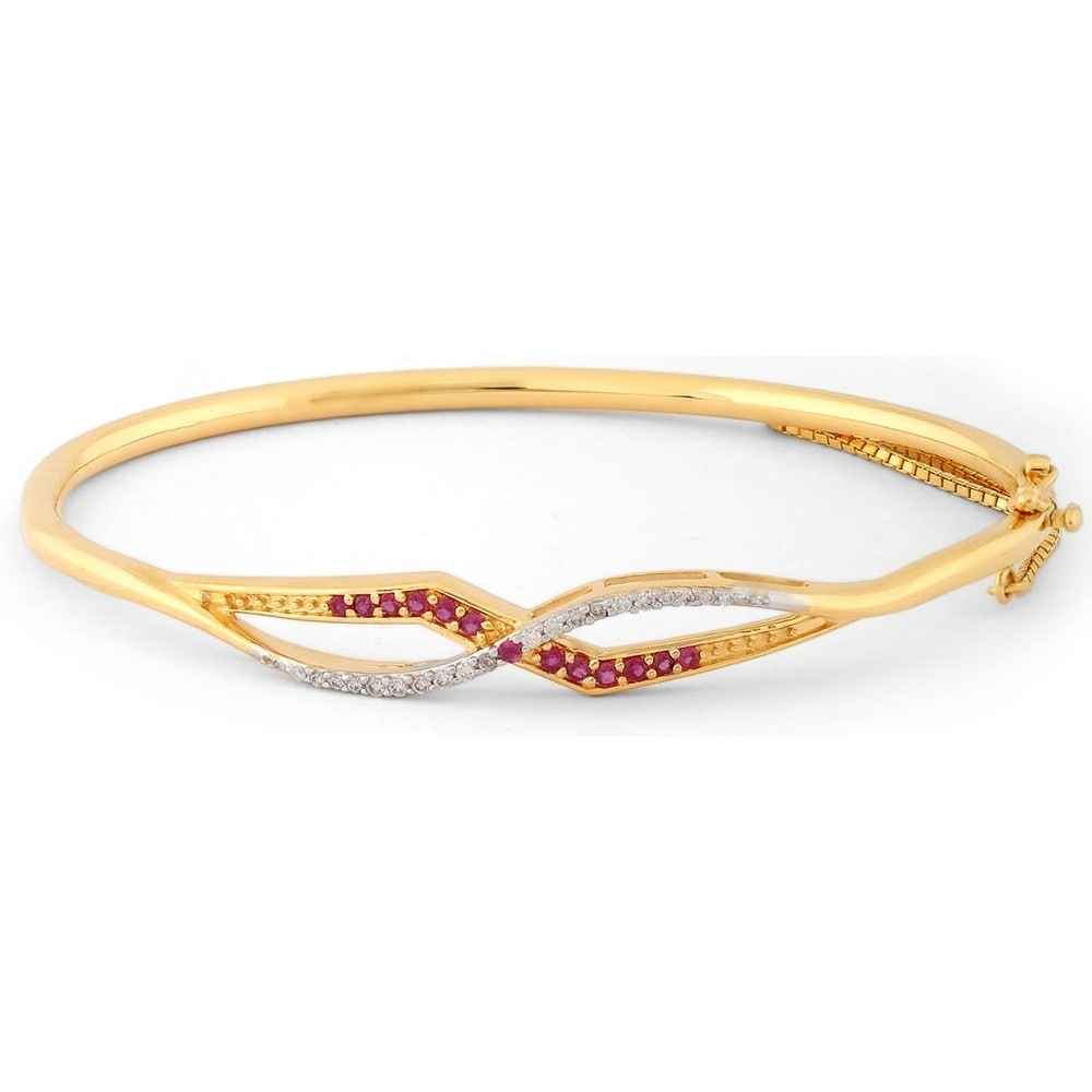 bracelet halcyon days gold blue plain bangle bangles and
