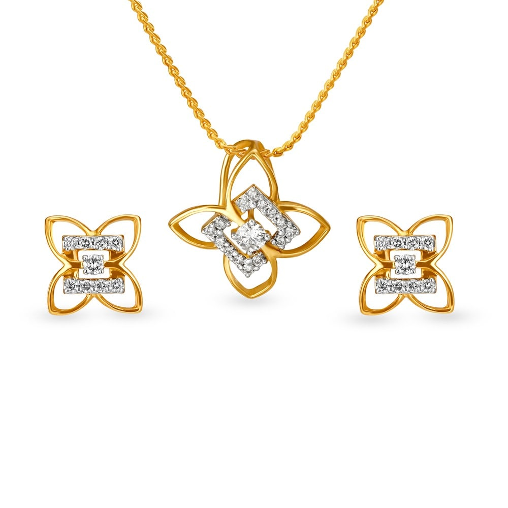 Buy tanishq gold pendant set for women 5021171hfaba02 shop online buy tanishq gold pendant set for women 5021171hfaba02 shop online at titan e store aloadofball Image collections
