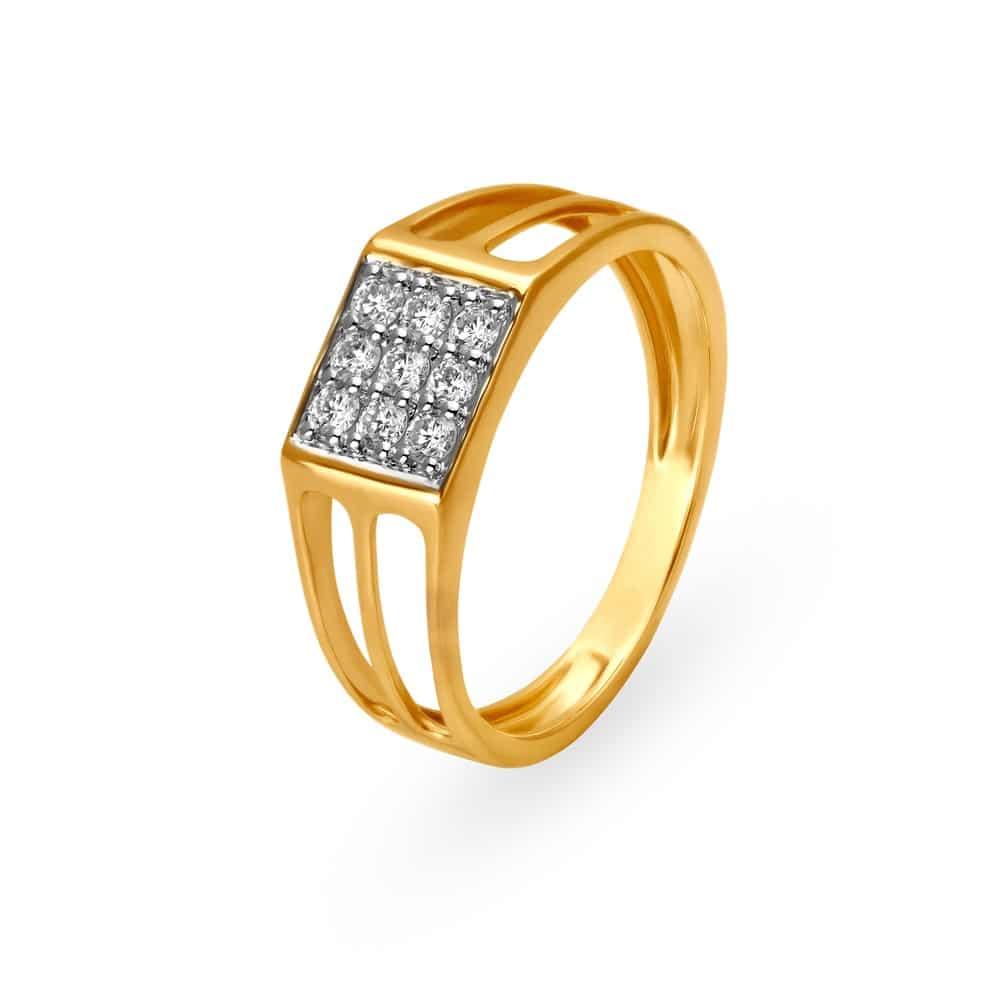 Buy Tanishq Gold Finger Ring for Women 502117FOWRAA02 | Shop ...