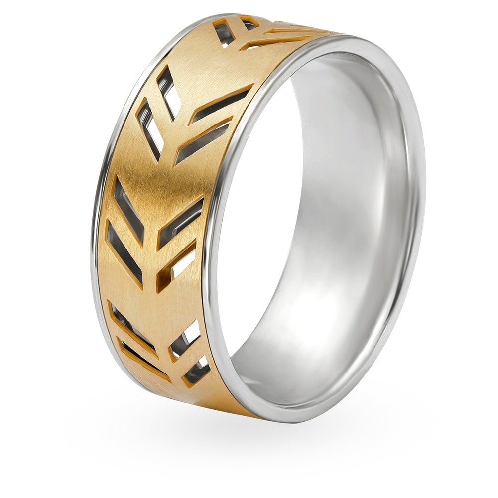 Men Ring Design In Tanishq | Tanishq Aveer 18kt Yellow Gold Finger Ring For Men