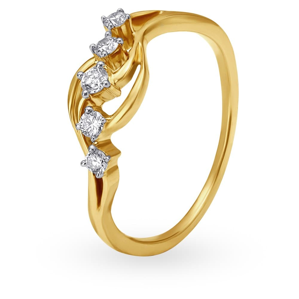ef772a60194 Buy Tanishq Mangalam 18KT Gold Finger Ring for Women 503117FKEMAA22 ...
