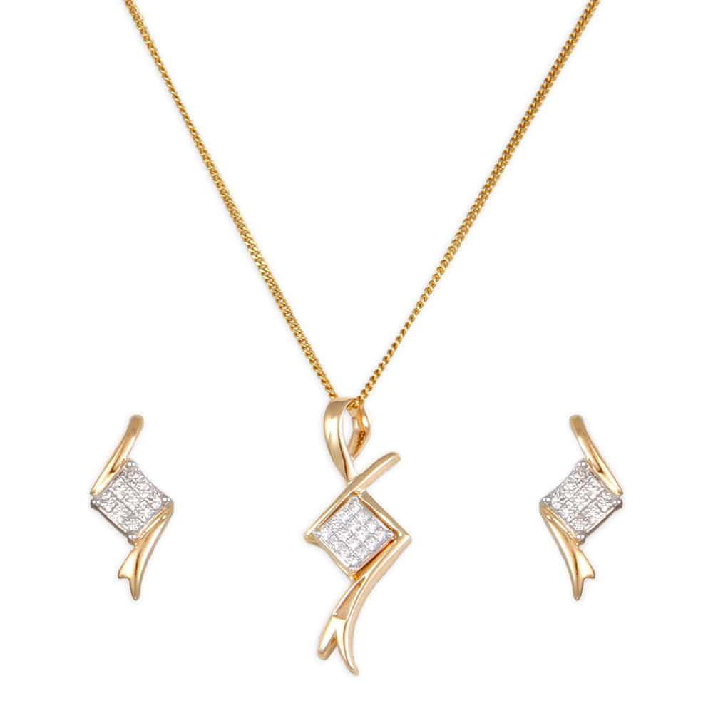 Tanishq 18 kt diamond studded gold pendant set for women id tanishq 18 kt diamond studded gold pendant set for women id 5032131egaba22 buy online titan aloadofball Gallery
