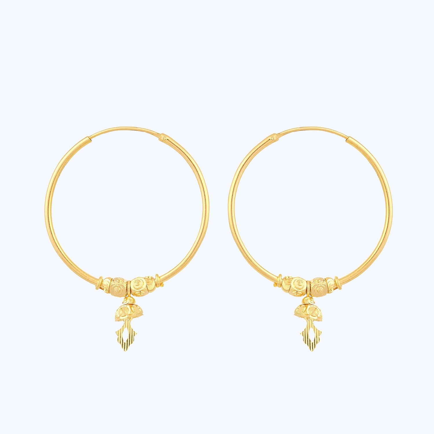 gold yellow with round design coin p hoop roberto jewellery earrings symphony
