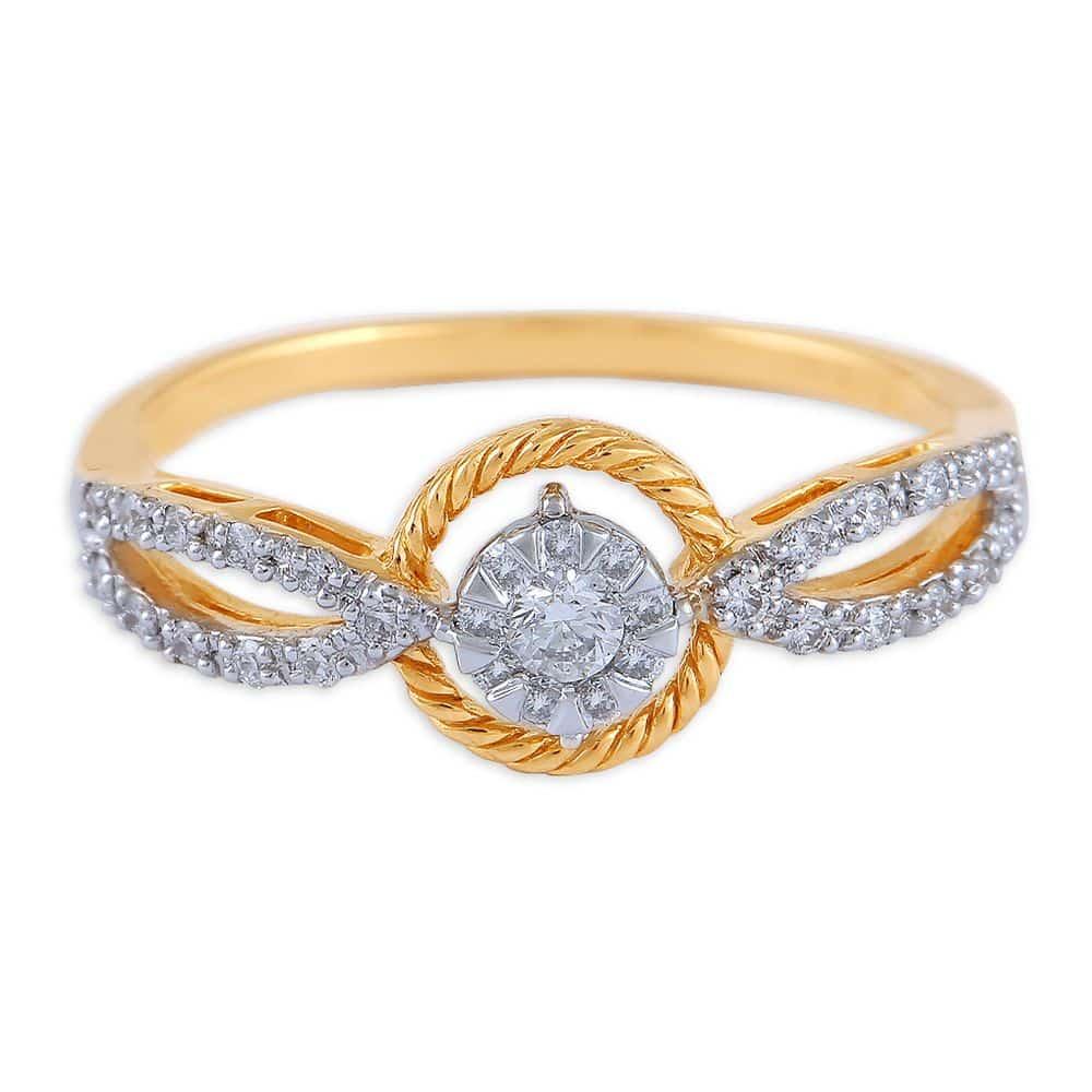 buy tanishq 18 kt gold platinum finger ring