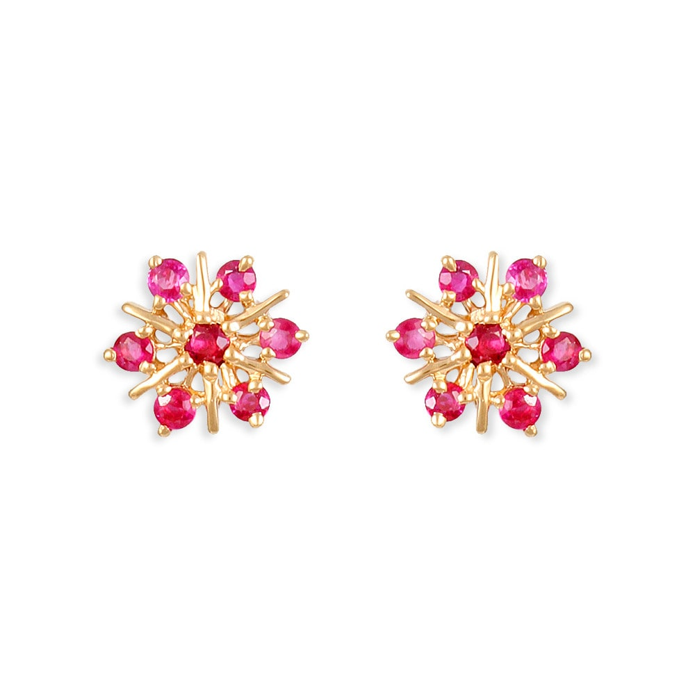 buy tanishq 22 kt gold stud earring ruby studded id. Black Bedroom Furniture Sets. Home Design Ideas