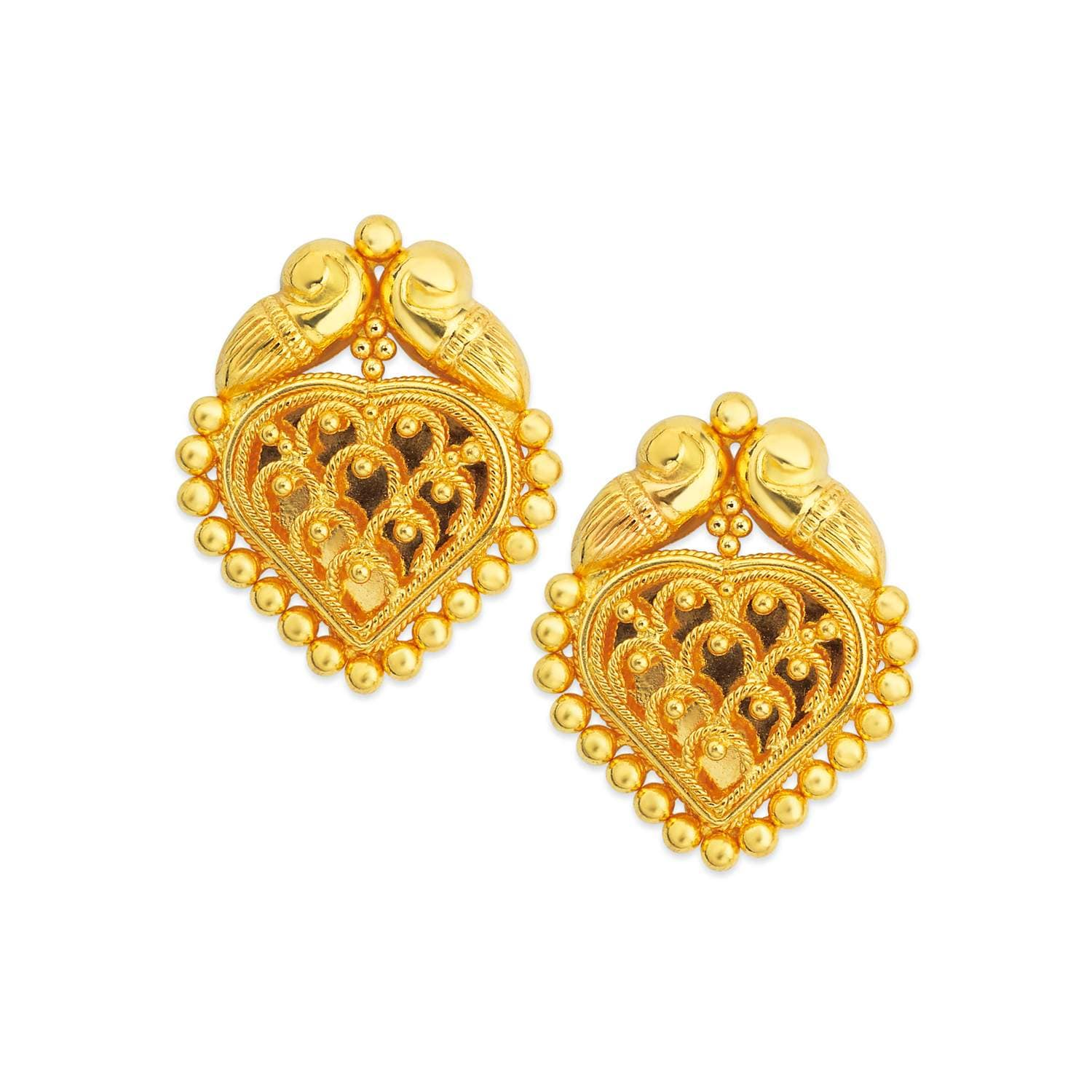 Buy Tanishq 22 KT Gold Stud Earring ID 510191SCAABA00 for ...