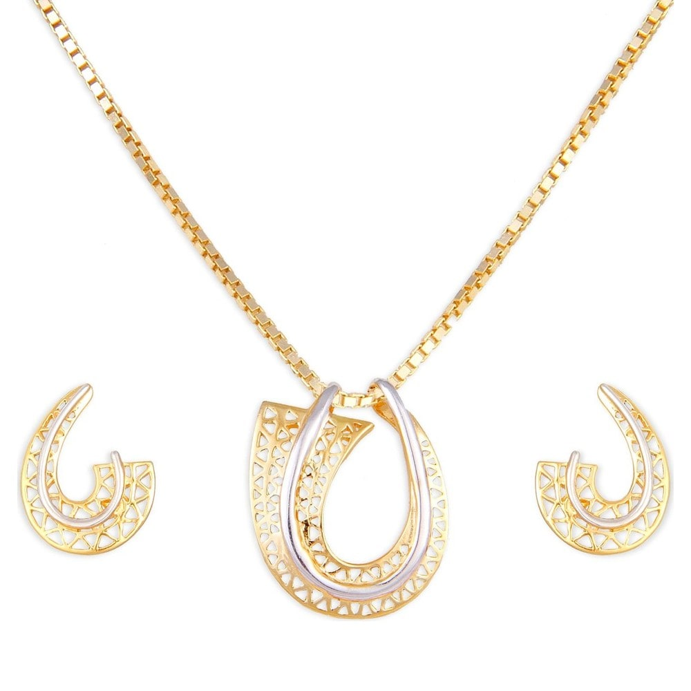Tanishq 22 KT Gold Pendant Set ID 5104661XAAAA00 Buy Online @ Titan