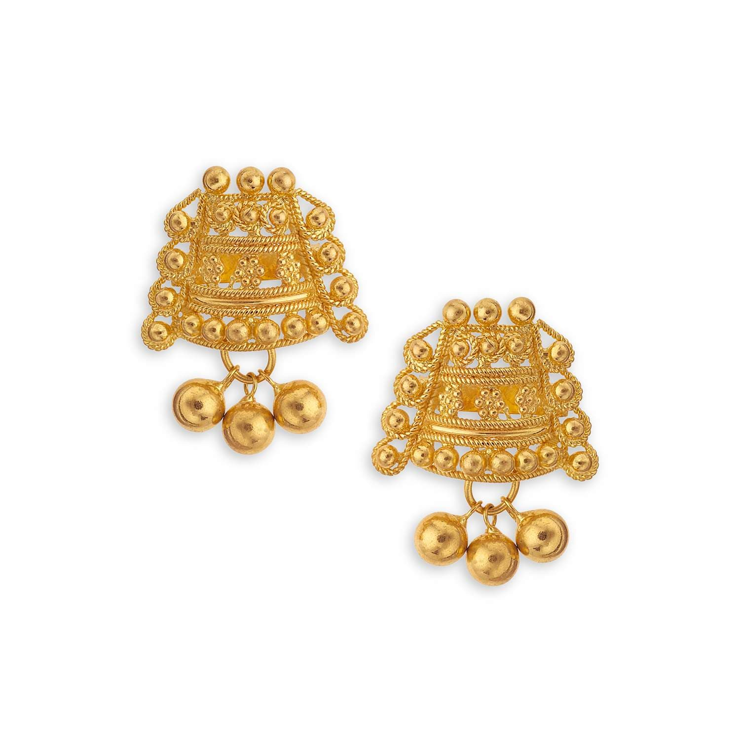 Buy Classy Gold Tanishq Earrings 510542SXAABA00 for Women ...