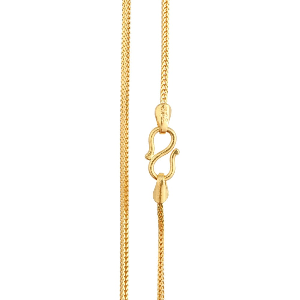 Buy Tanishq 22KT Yellow Gold Chain for Women AT Best Price ...