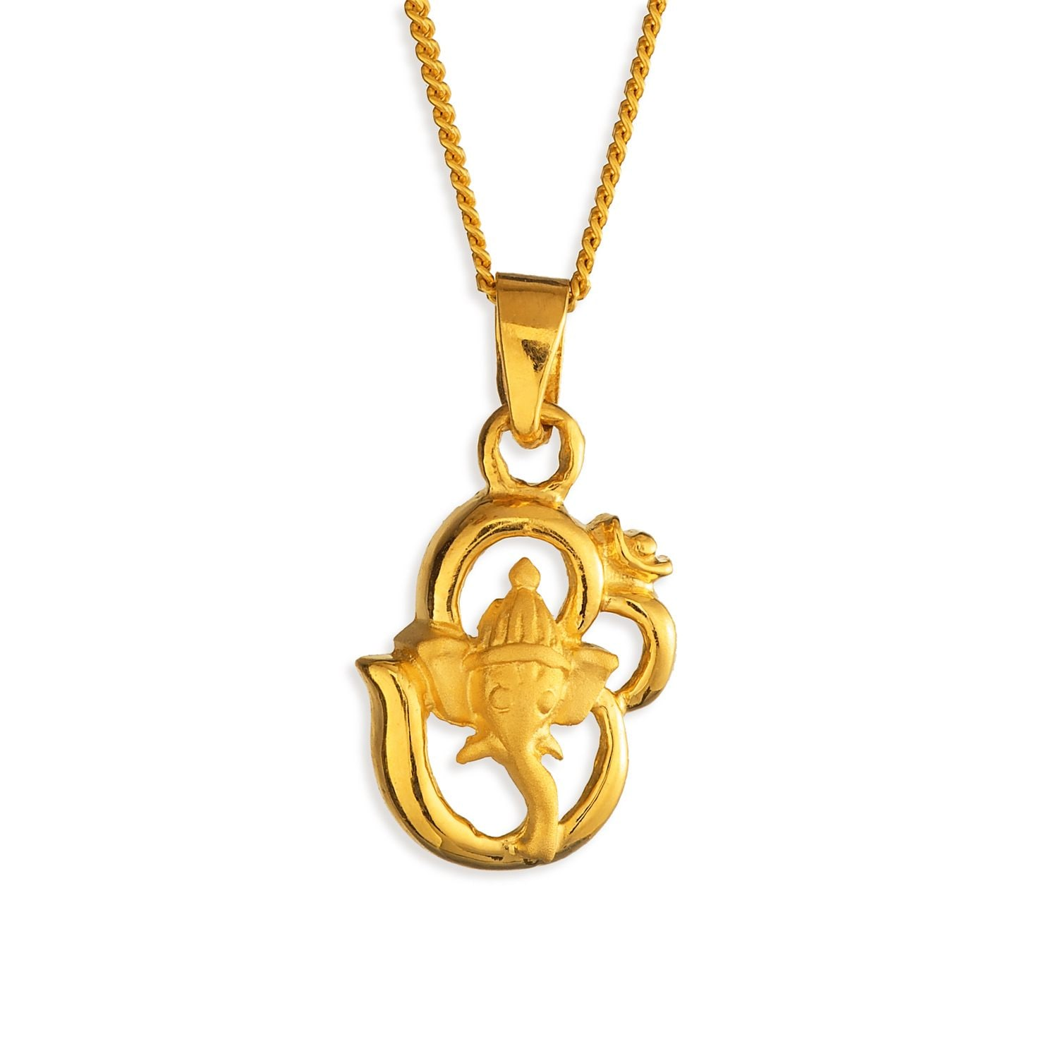 Tanishq 22 kt gold pendant id 510783ppaaaa00 buy online for women 22kt gold om and ganesha pendant aloadofball Image collections