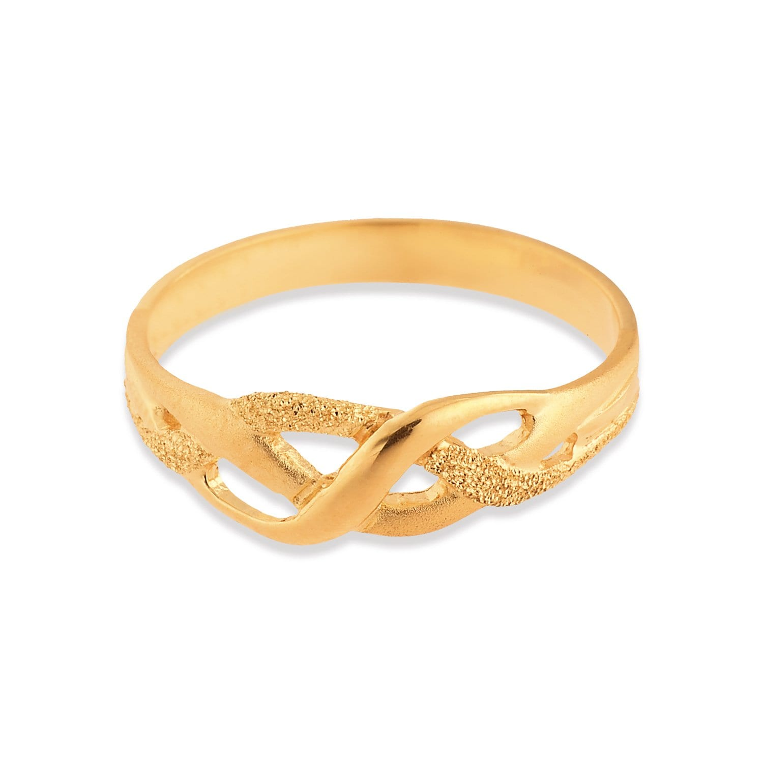 buy classy golden tanishq finger ring 510896fkanaa00 for