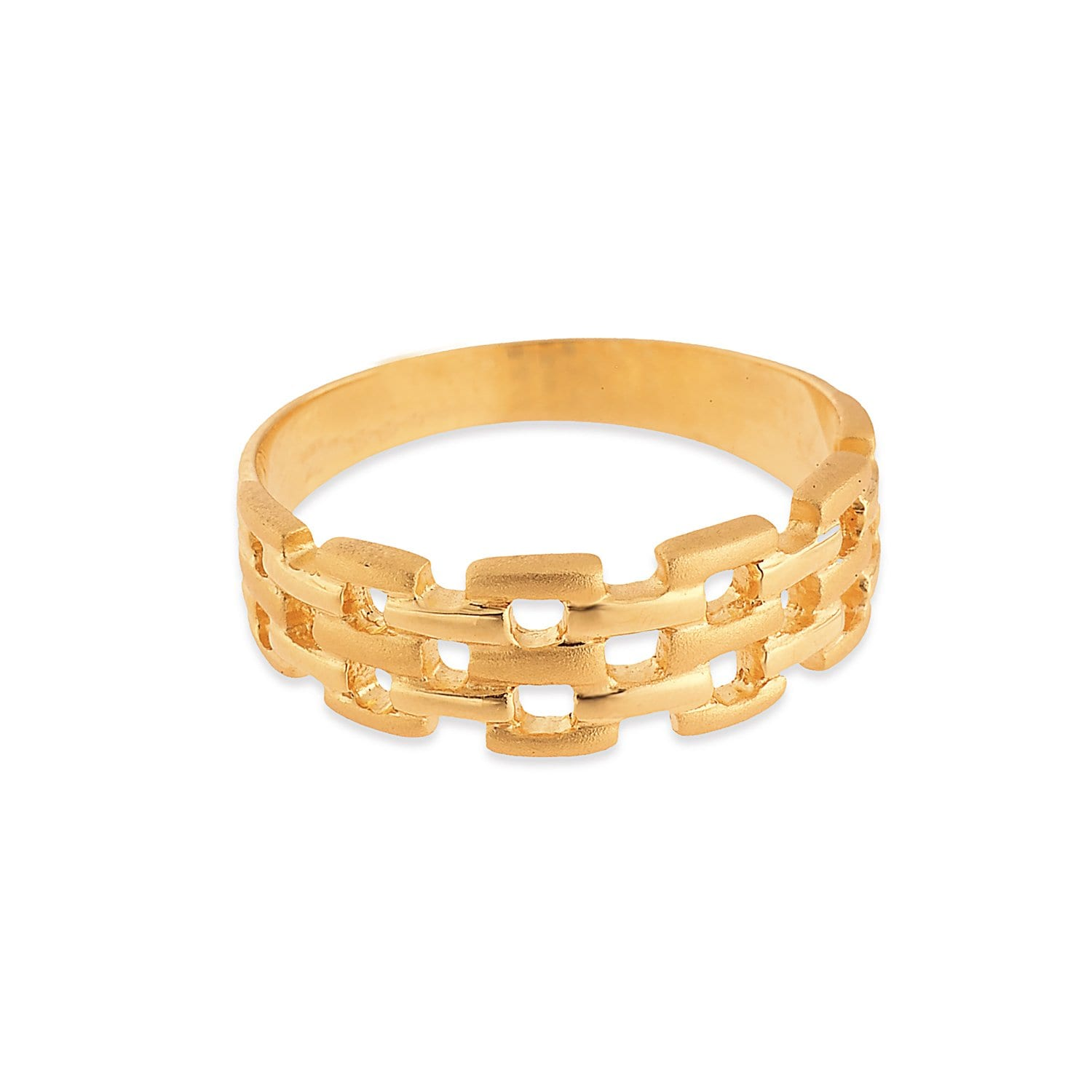 buy tanishq 22kt yellow gold finger ring for women at