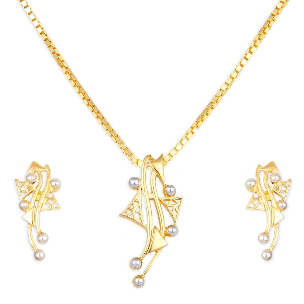 Buy tanishq 22 kt gold pendant set id 5110031hraaa00 for women titan mozeypictures Choice Image