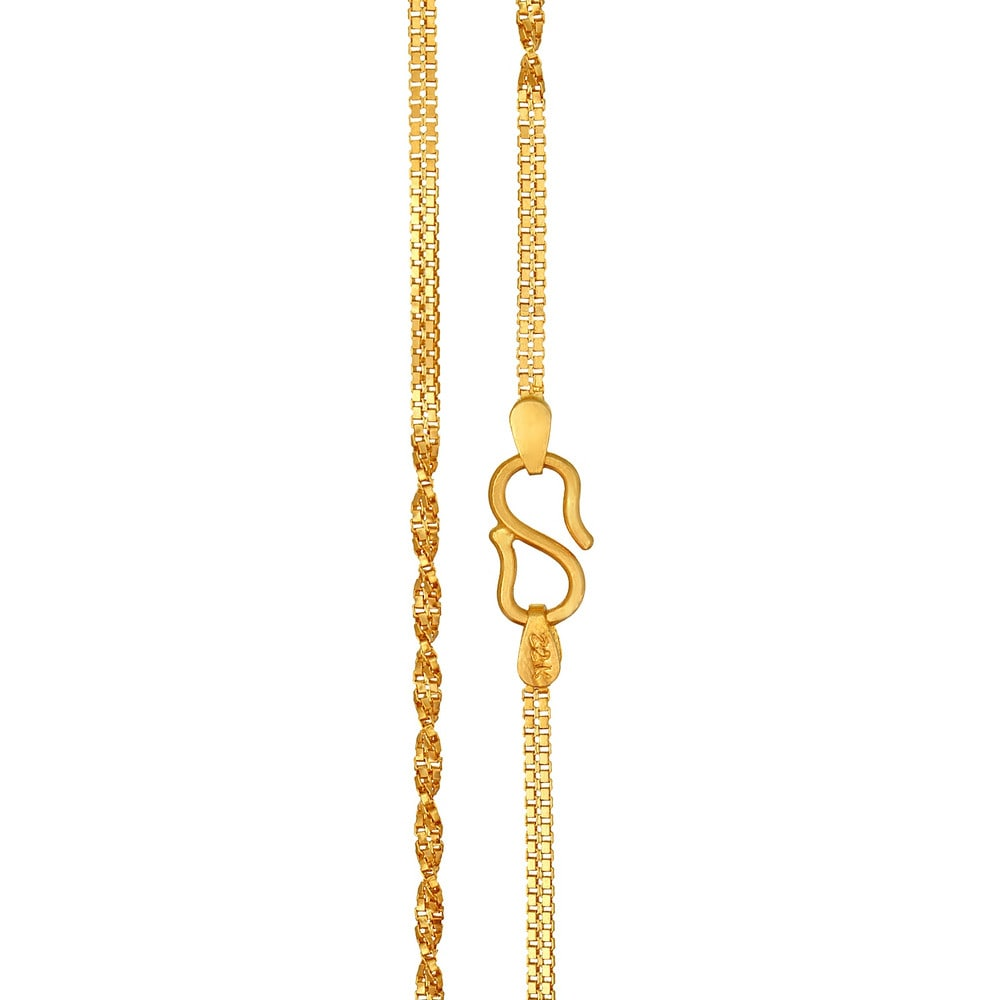 Home 510082CQAEAA00_2JA001854 |Tanishq Gold Chain For Men With Price