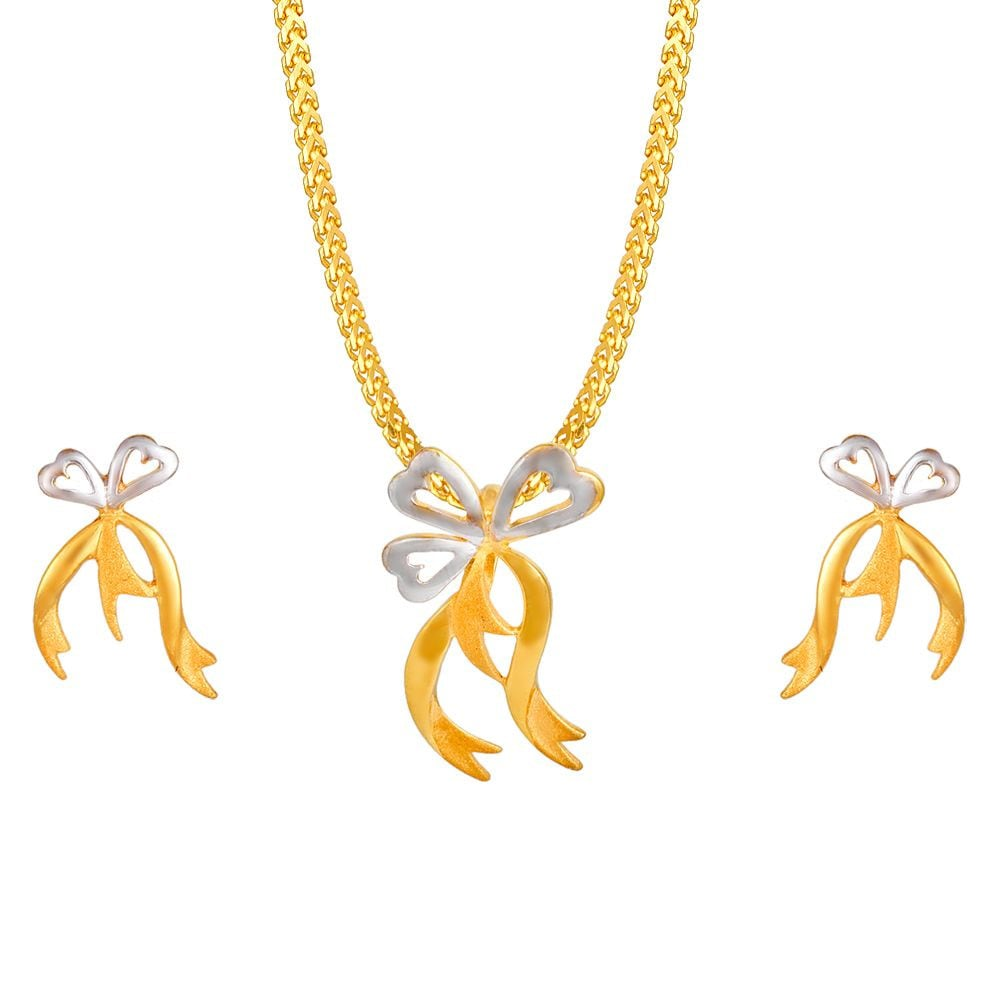 Buy tanishq 22 kt gold pendant set id 5111151caaaa00 for women titan mozeypictures Choice Image