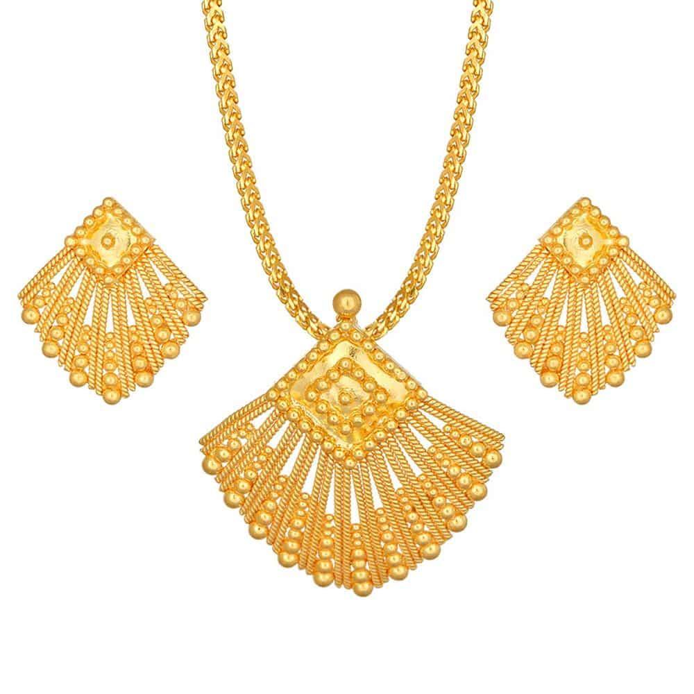 Buy tanishq 22 kt gold pendant set id 5111541xcaba00 for women titan aloadofball Gallery