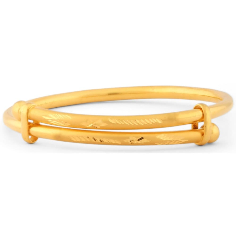 made karat yellow gold style england in bracelet bamboo bangles bangle bracelets itm birks