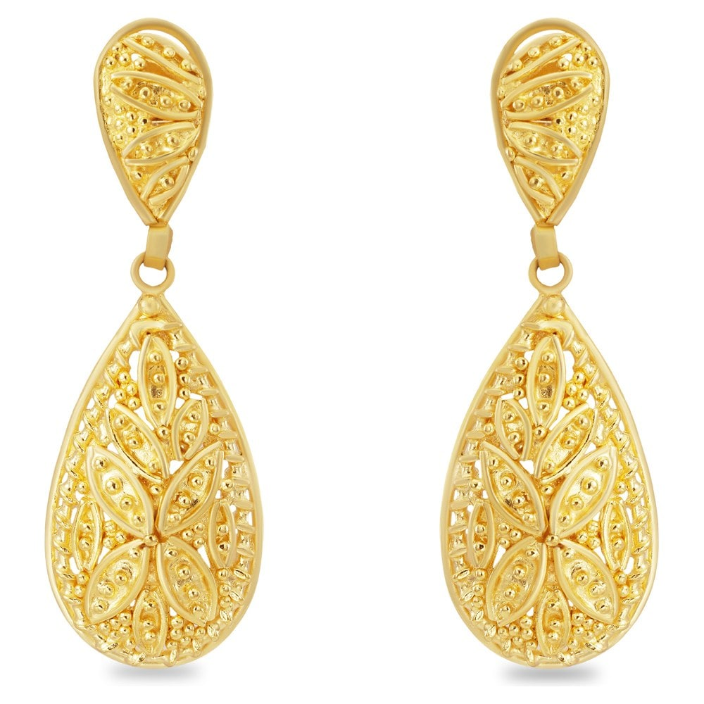 Buy Tanishq Yellow Gold Drop Earring 512016DOPABA00 Online ...