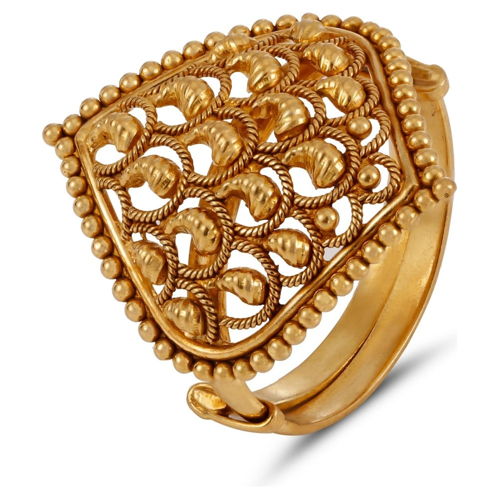 Buy Tanishq Yellow Gold Finger Ring 512016FPWLAA00 Online ...