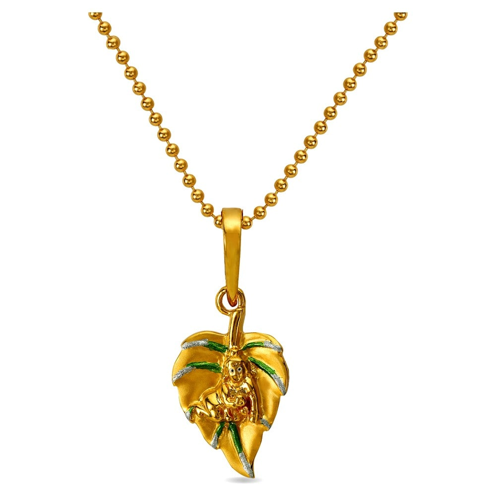 Buy tanishq tri colour gold pendant 512016pqfaaa00 online at titan 22kt gold krishna reversible pendant aloadofball Image collections