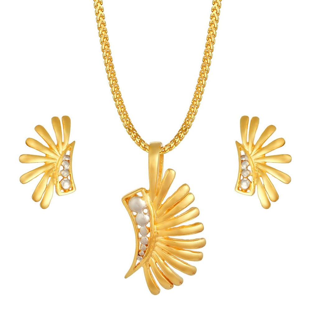 Buy yellow and white gold pendant set at best price online india buy yellow and white gold pendant set at best price online india titan aloadofball Choice Image