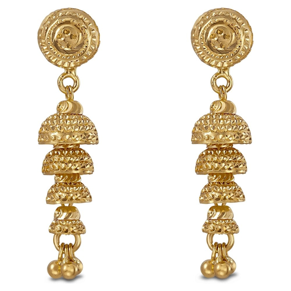Buy Tanishq Yellow Gold Drop Earring 512216JHEABA00 Online ...