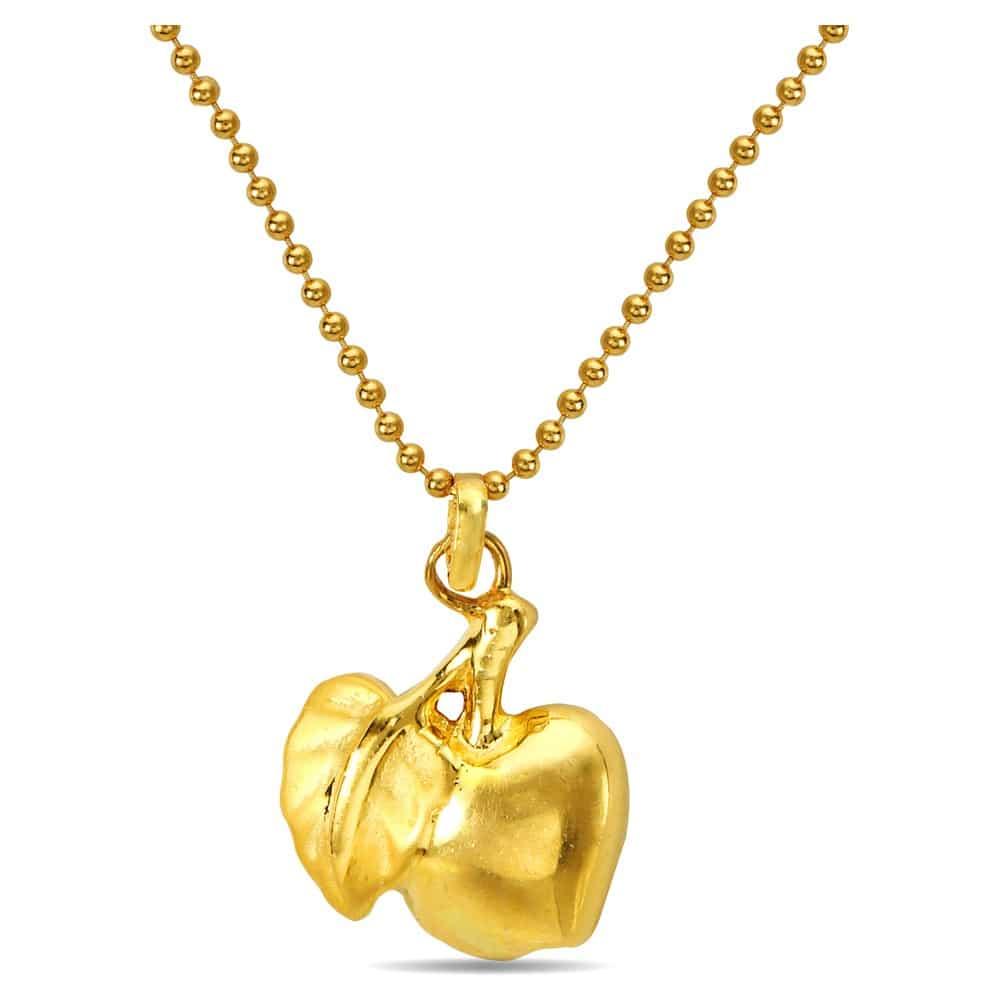 Buy tanishq yellow gold pendant 512216pdtaaa00 online at titan 22kt gold apple pendant aloadofball Gallery