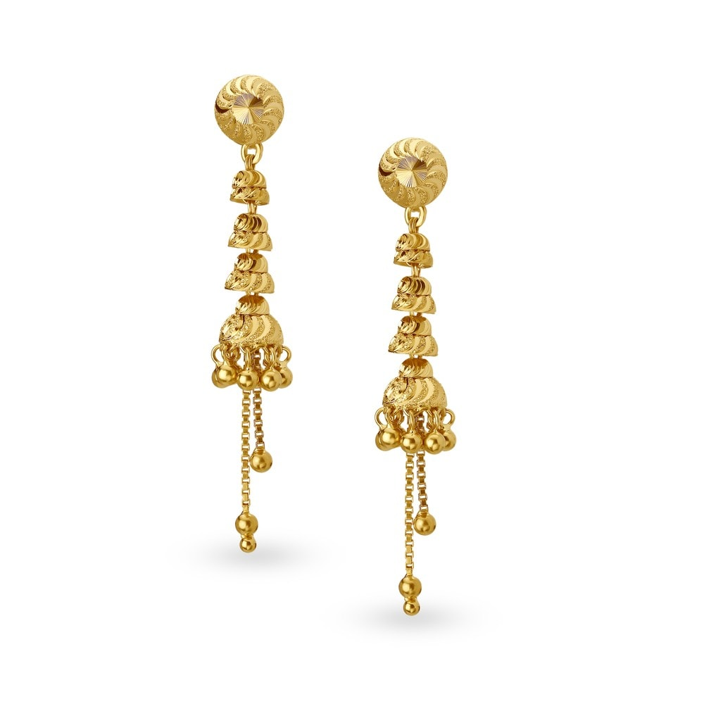 Buy Tanishq Gold Drop Earrings for Women 512217DMYABA00 ...