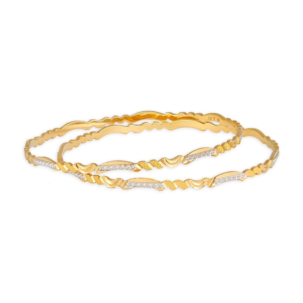 Bangles With Price: Buy Tanishq 22 KT Gold Bangle ID 512411VPKR2A00 @ Titan