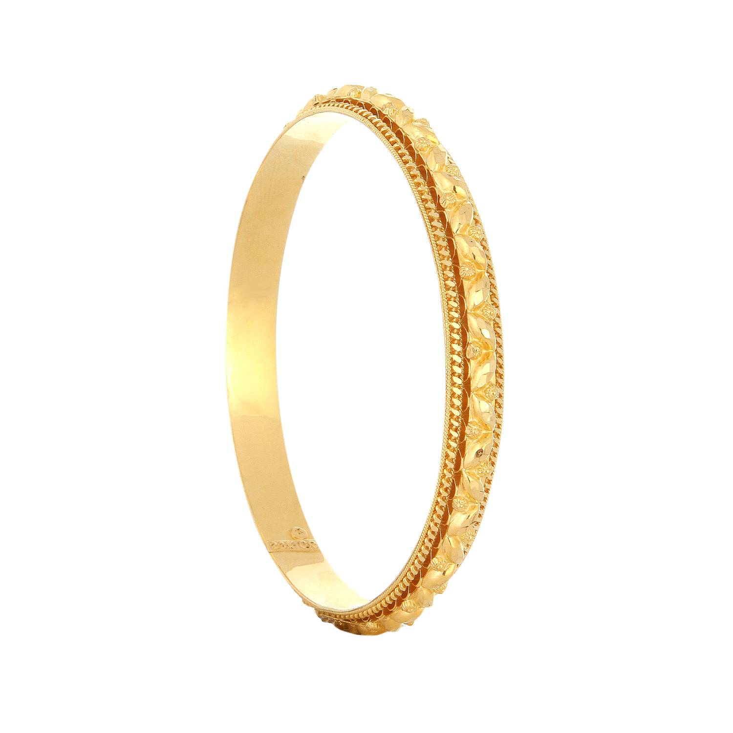 buy tanishq 22 kt gold bangle id 512411vwas1a00 for women