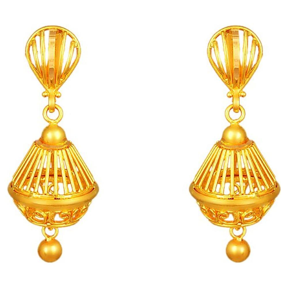 Buy Tanishq 22 KT Gold Jhumka ID 512714JQTABA00 for Women ...