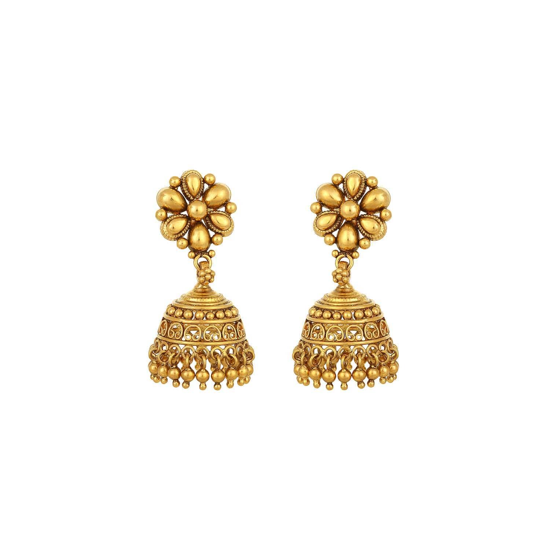 Buy 22k drop earrings 513013DCWABA00 At Best Price Online ...