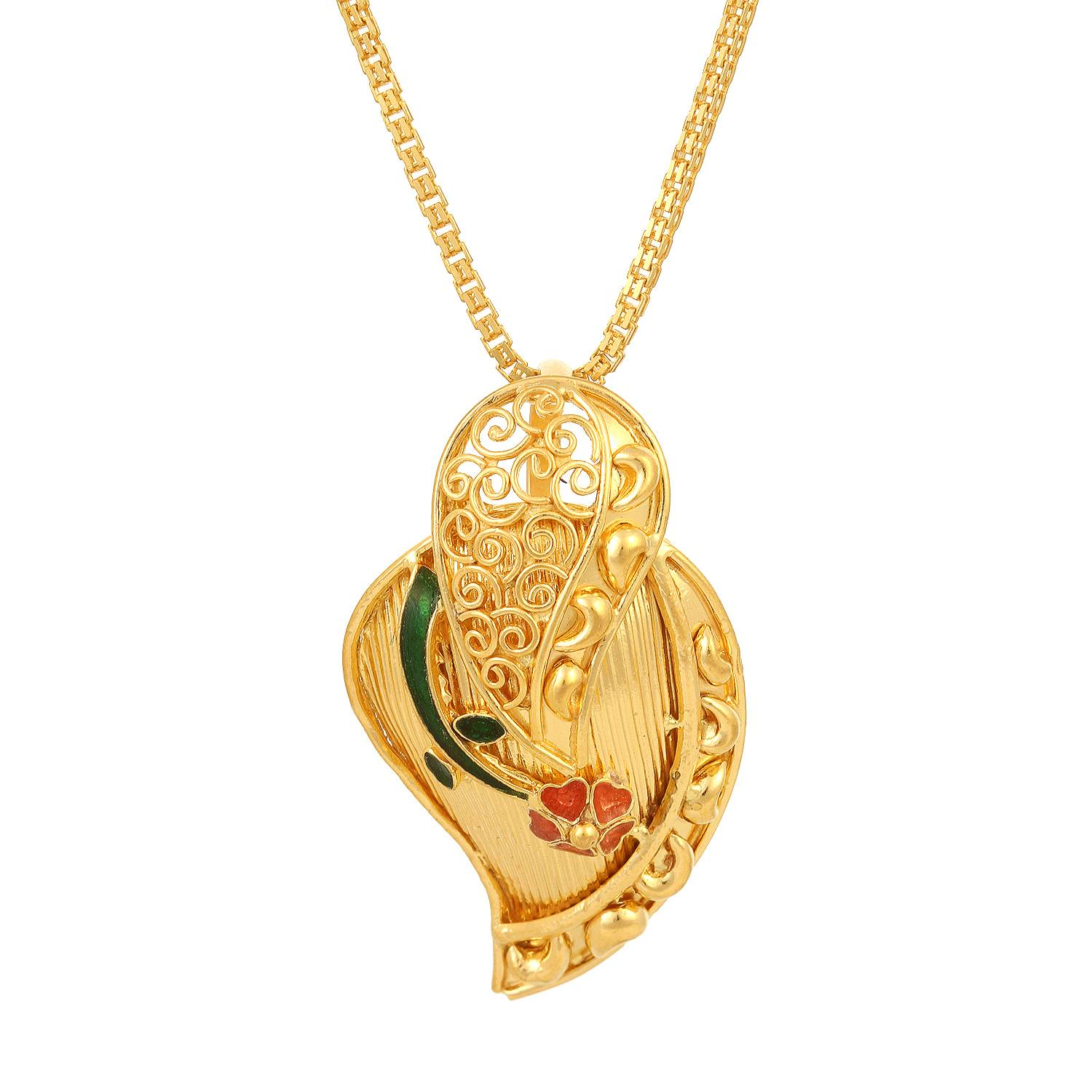 Buy Tanishq 22KT Yellow Gold Pendant for Women AT Best Price