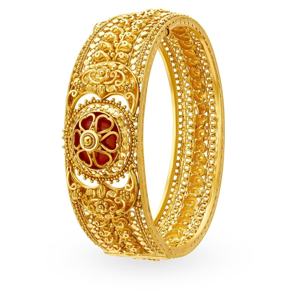 bangles image yellow browns gold engraved family bangle from jewellers
