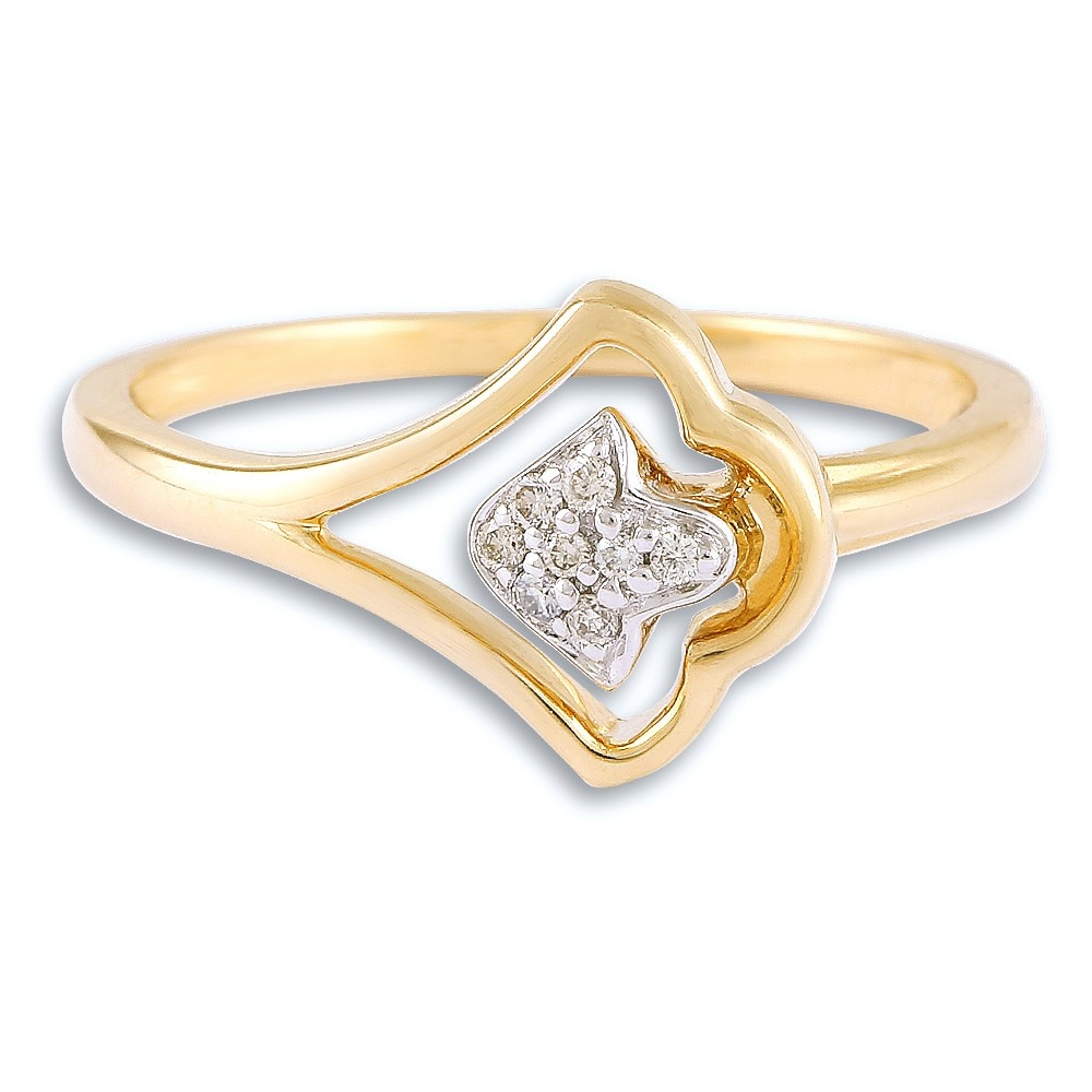Buy Tanishq 14 KT Gold Finger Ring Diamond Studded ID ...
