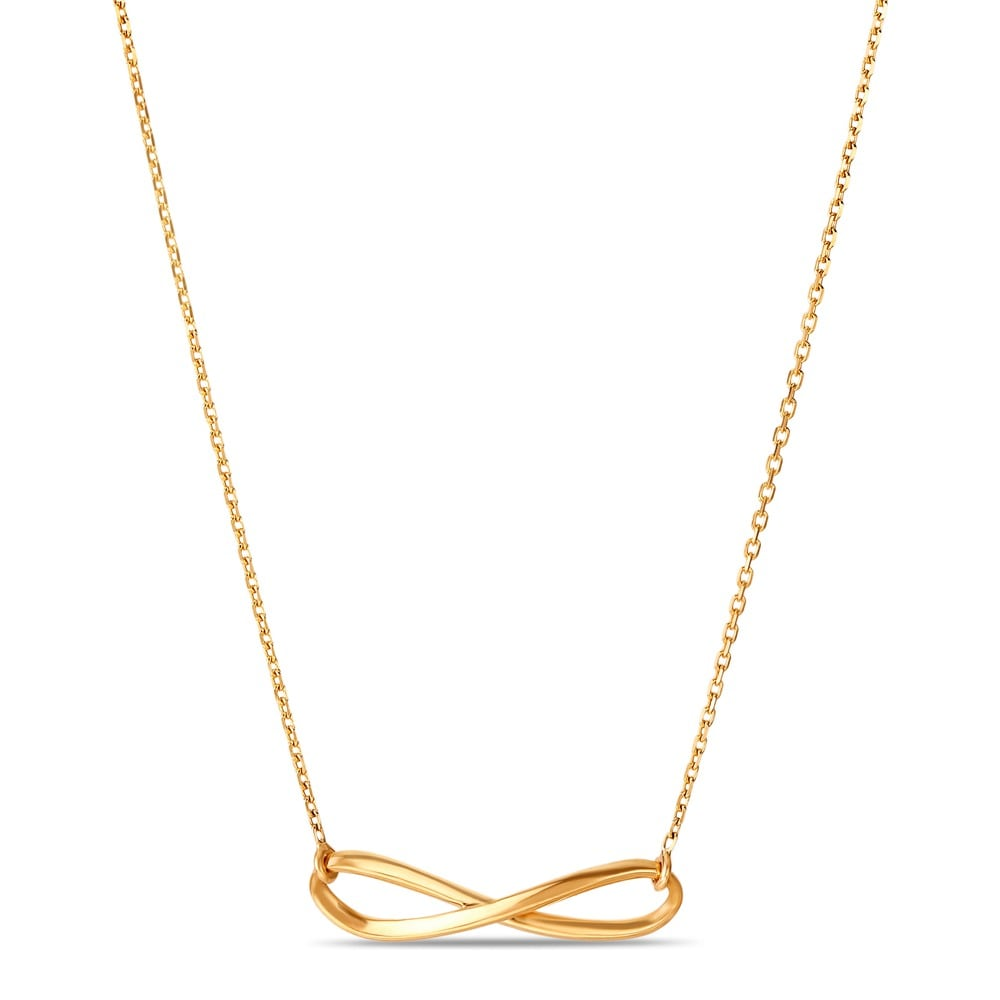 610b023fa46ad Mia by Tanishq Friends of Bride 14KT Yellow Gold Necklace