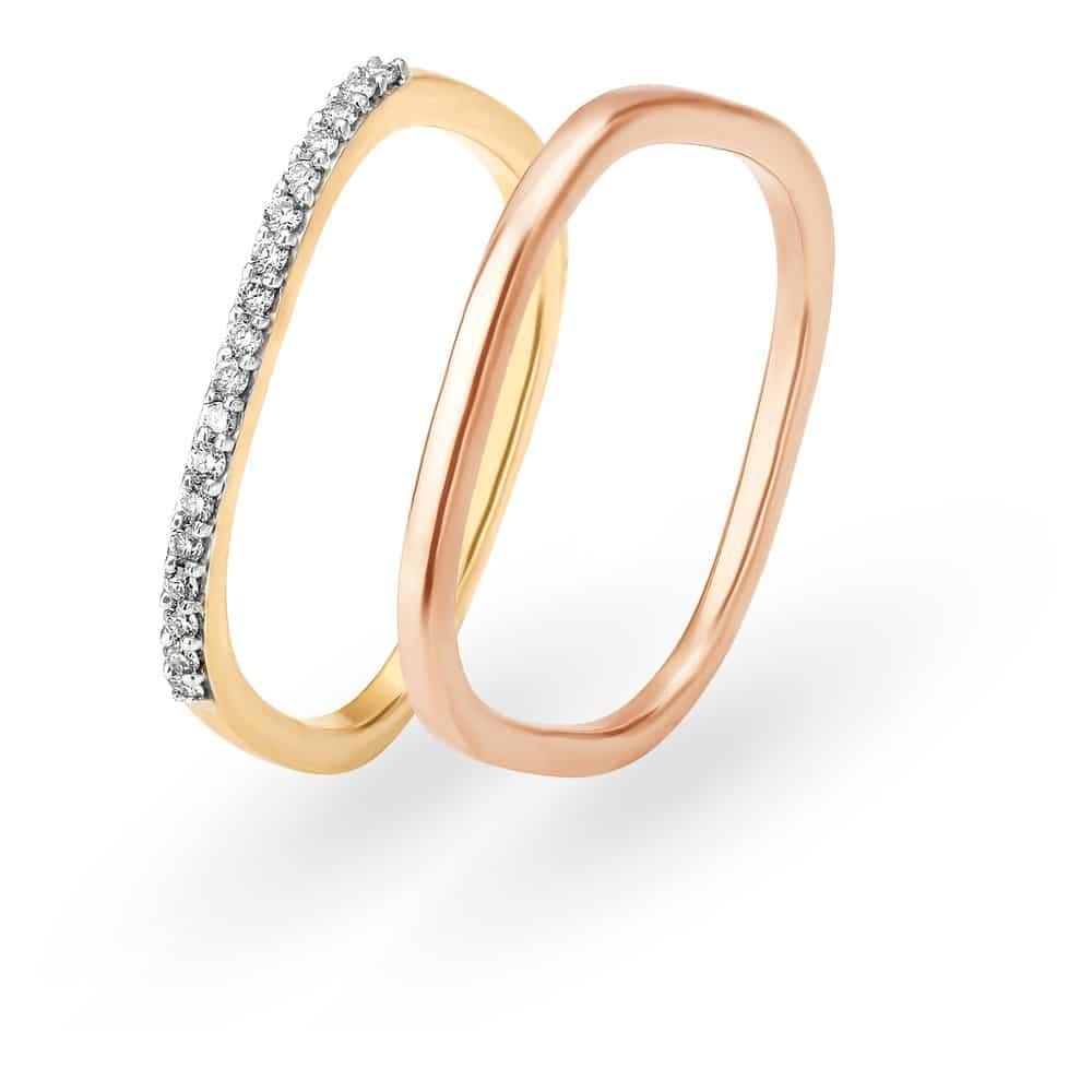 Buy Mia Gold Finger Ring for Women 552817FECLAB22   Shop Online at ...