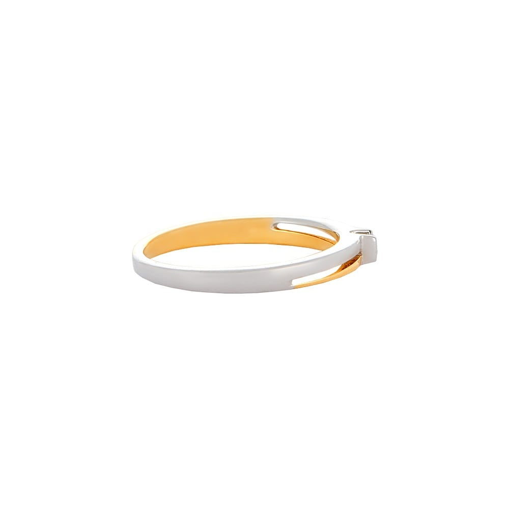 tanishq 18kt yellow and white gold finger ring
