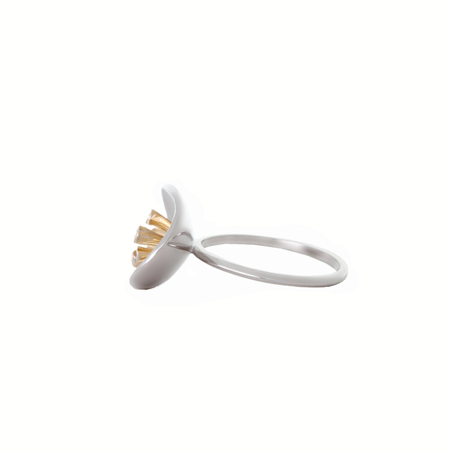 buy 14kt yellow gold finished finger ring with brilliant