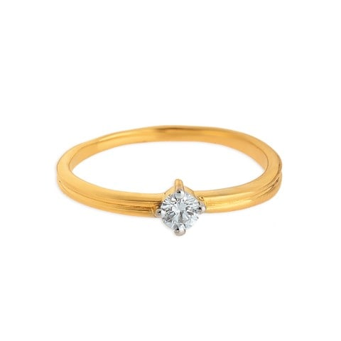 Buy Simple Diamond Tanishq Finger Ring for Women AT Best Price