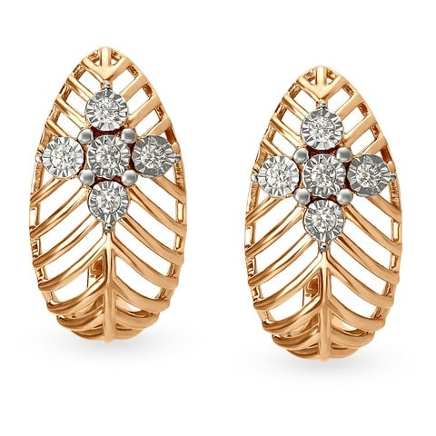 Rose Gold Earrings India Easy Crafts Jewelry
