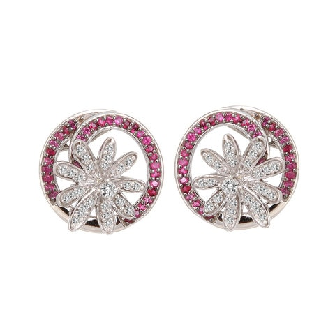 Buy Ruby And Diamond Tanishq Earrings At Best Price Online