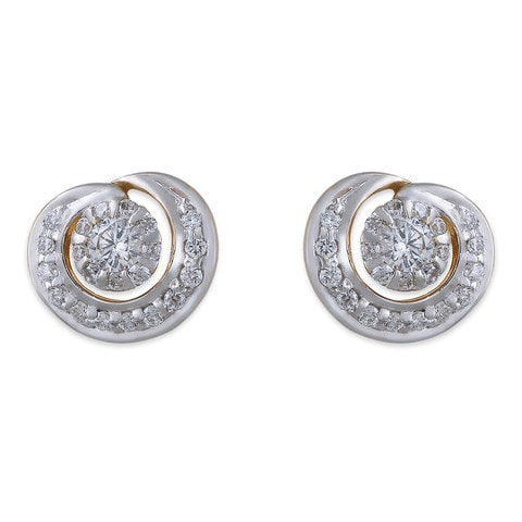 Buy Tanishq 18 KT Gold Stud Earring Diamond Studded ID ...