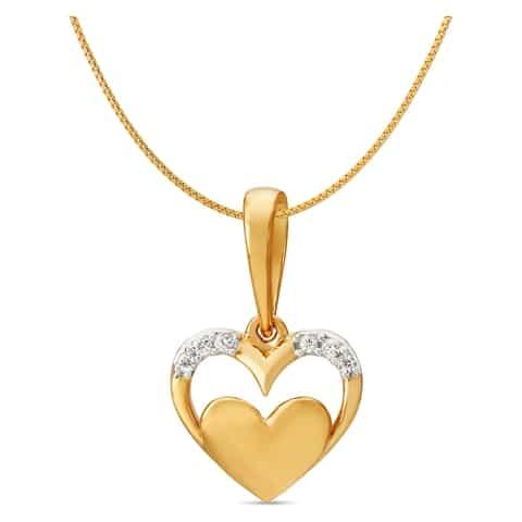 505001peyaaa09g 18kt yellow gold diamond pendant jewellery tanishq tanishq 18kt yellow gold diamond heart pendant aloadofball Gallery