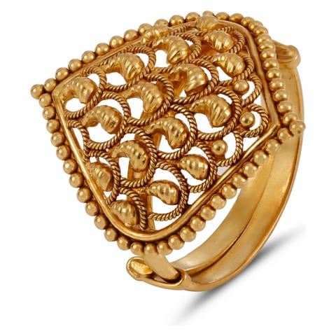 Buy Tanishq Yellow Gold Finger Ring FPWLAA00 line at Titan